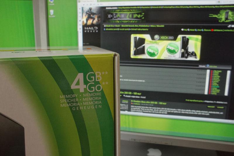 P: Fungl nový Xbox 360 slim 4GB - 150€